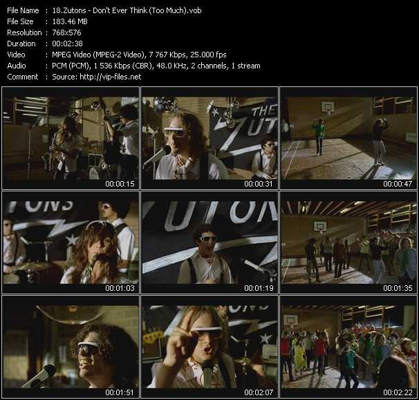 Zutons - Don't Ever Think (Too Much)
