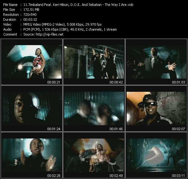 Timbaland Feat. Keri Hilson, D.O.E. And Sebatian - The Way I Are