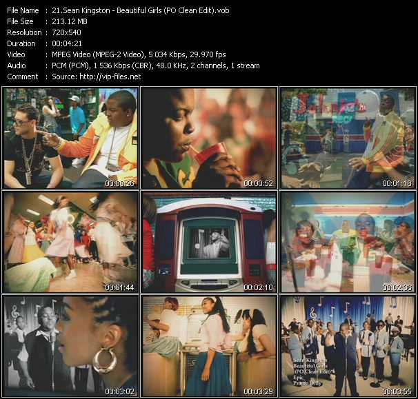 Sean Kingston - Beautiful Girls (PO Clean Edit)