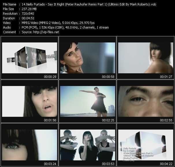 Nelly Furtado - Say It Right (Peter Rauhofer Remix Part 1) (Ulitimix Edit By Mark Roberts)
