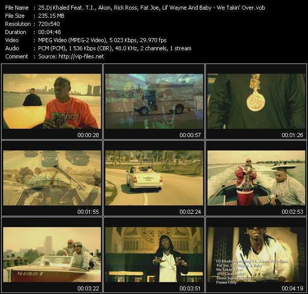 Dj Khaled Feat. T.I., Akon, Rick Ross, Fat Joe, Lil' Wayne And Baby - We Takin' Over (PO Clean Edit)