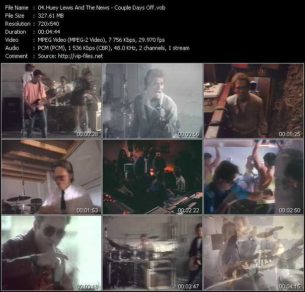 Huey Lewis And The News - Couple Days Off