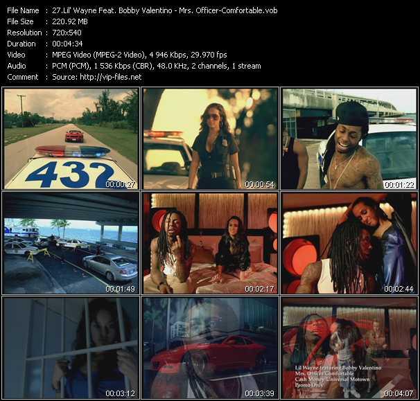 Lil' Wayne Feat. Bobby Valentino (Bobby V) - Mrs. Officer - Comfortable