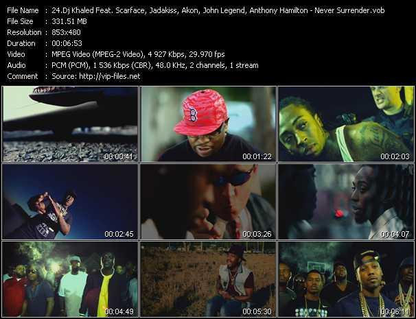 Dj Khaled Feat. Scarface, Jadakiss, Meek Mill, Akon, John Legend, Anthony Hamilton - Never Surrender
