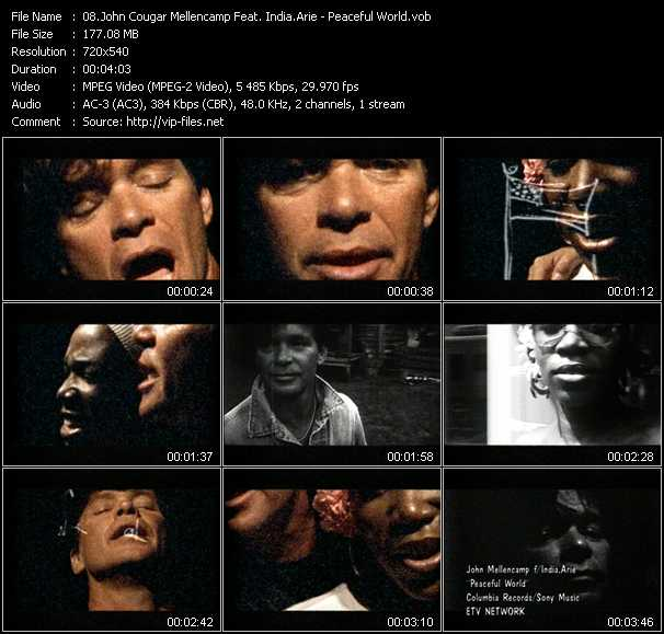 John Cougar Mellencamp Feat. India.Arie - Peaceful World