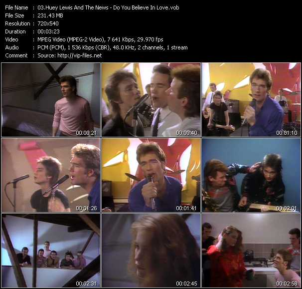 Huey Lewis And The News - Do You Believe In Love?