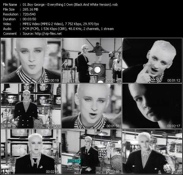 Boy George - Everything I Own (Black And White Version)