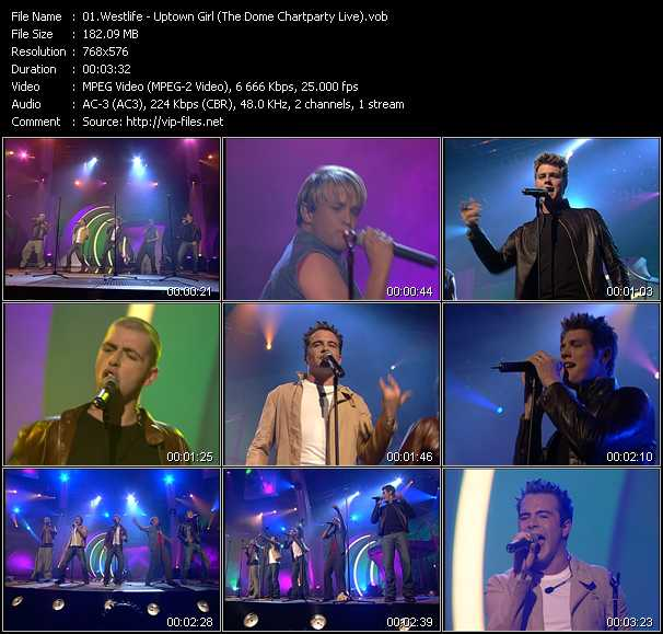 Westlife - Uptown Girl (The Dome Chartparty Live)