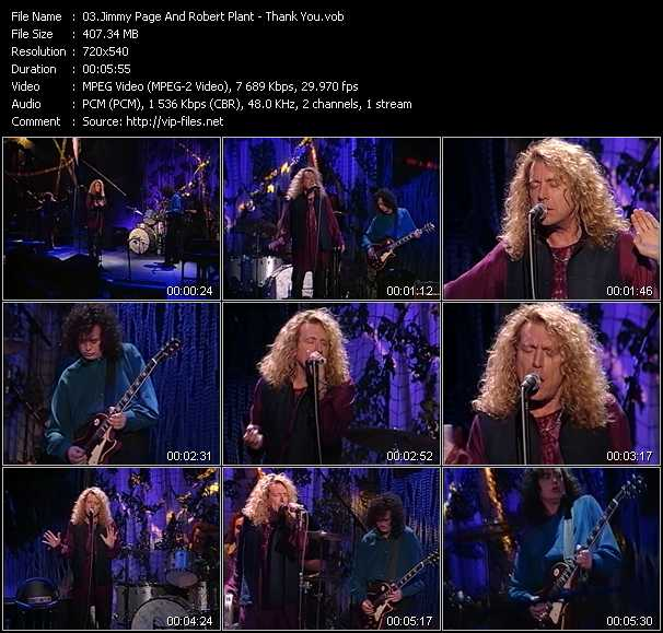 Jimmy Page And Robert Plant (Page And Plant) - Thank You