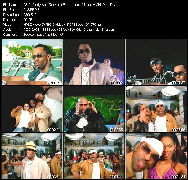 P. Diddy (Puff Daddy) And Ginuwine Feat. Loon - I Need A Girl, Part 2