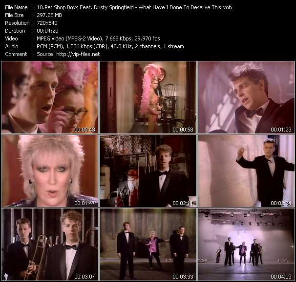Pet Shop Boys Feat. Dusty Springfield - What Have I Done To Deserve This?