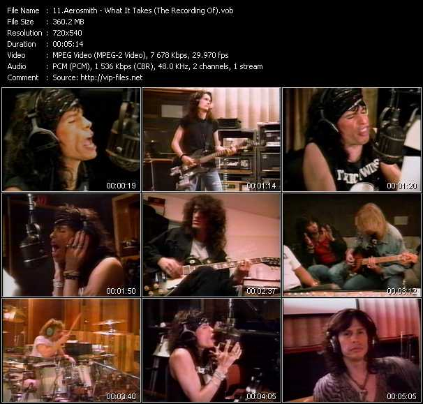 Aerosmith - What It Takes (The Making Of Pump Version)
