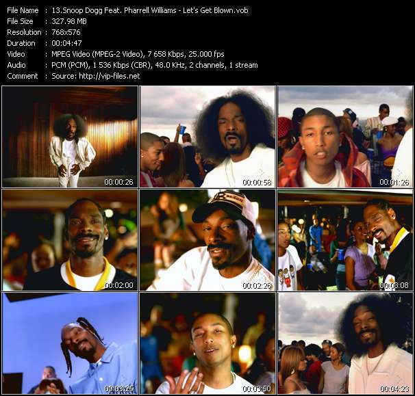 Snoop Dogg Feat. Pharrell Williams - Let's Get Blown