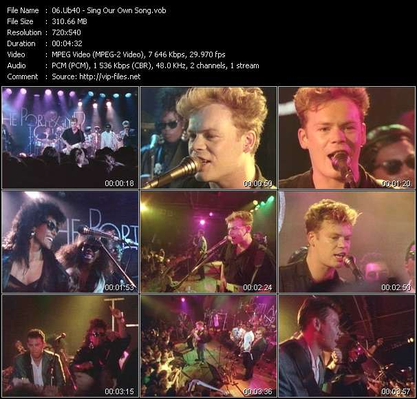 Ub40 - Sing Our Own Song