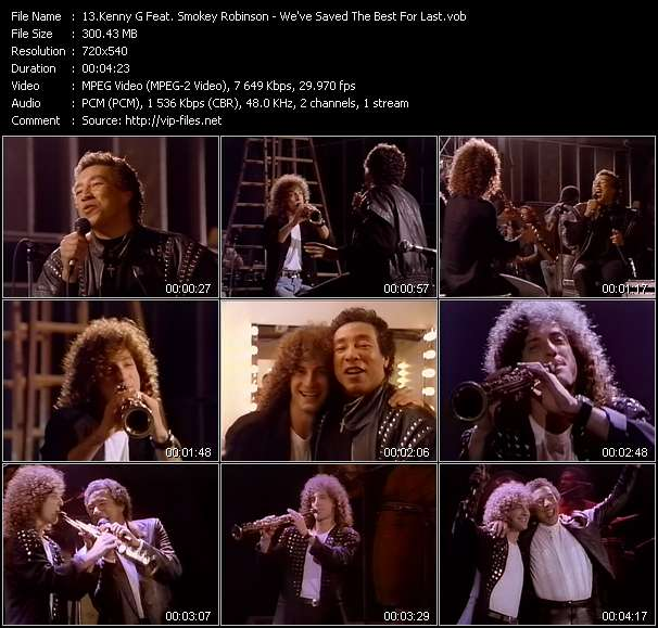 Kenny G Feat. Smokey Robinson - We've Saved The Best For Last