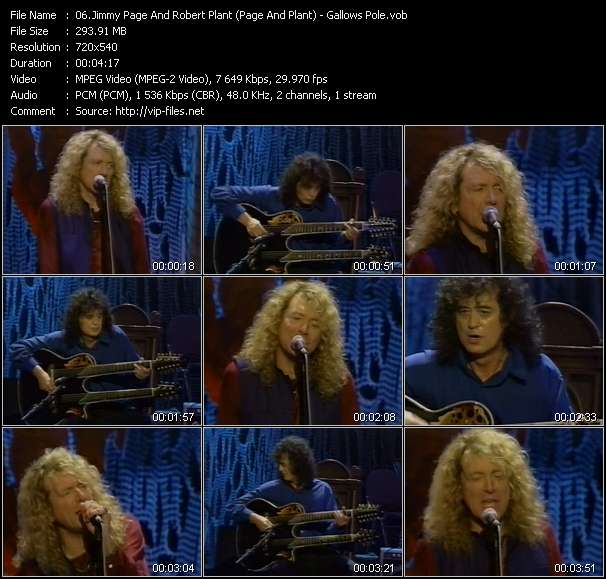Jimmy Page And Robert Plant (Page And Plant) - Gallows Pole