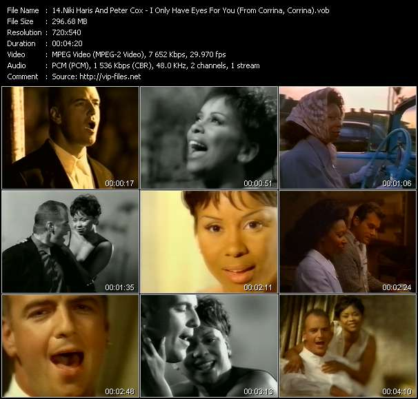 Niki Haris And Peter Cox (Go West) - I Only Have Eyes For You (From Corrina, Corrina)