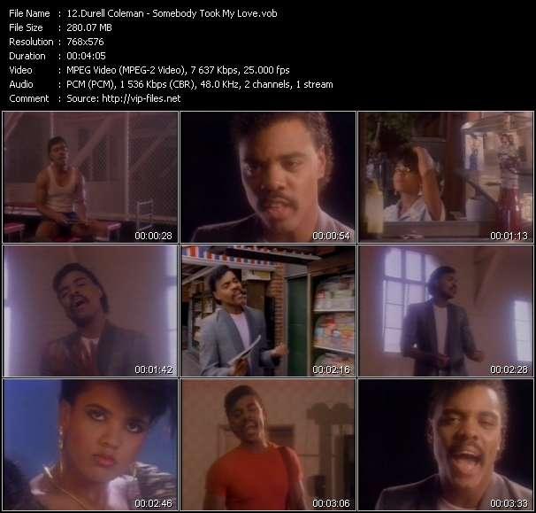 Durell Coleman - Somebody Took My Love