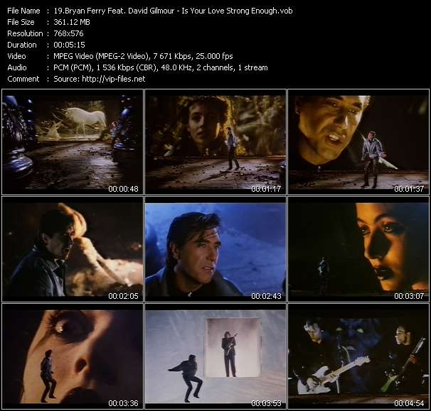 Bryan Ferry Feat. David Gilmour - Is Your Love Strong Enough