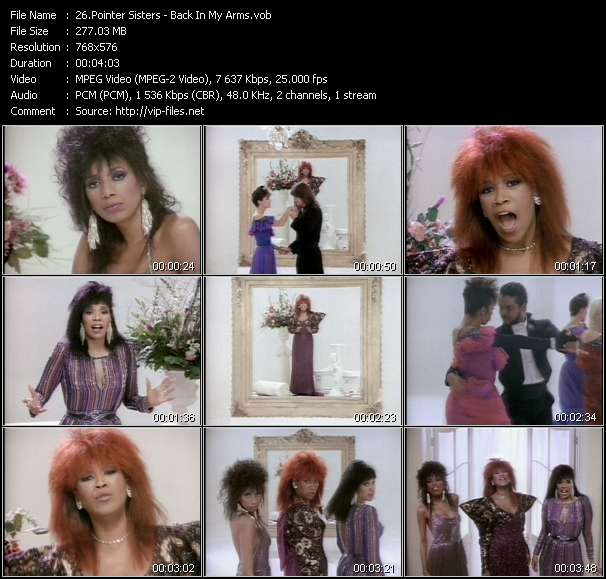 Pointer Sisters - Back In My Arms