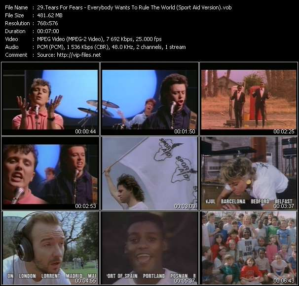Tears For Fears - Everybody Wants To Rule The World (Sport Aid Version)