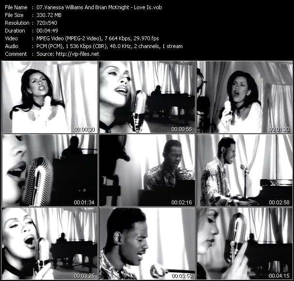 Vanessa Williams And Brian McKnight - Love Is