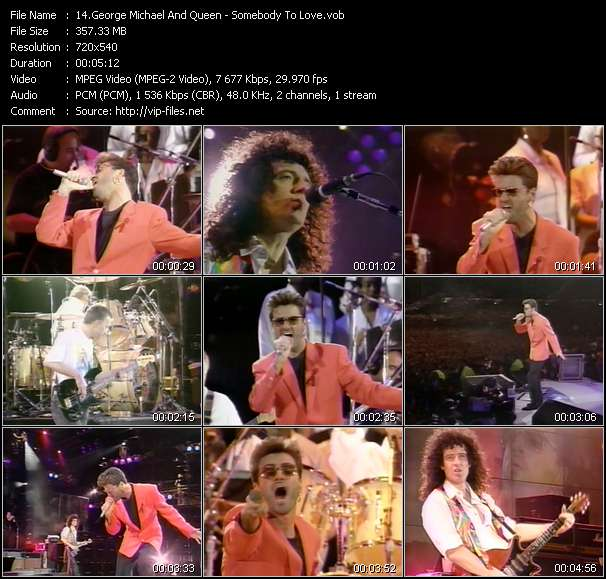 George Michael And Queen - Somebody To Love