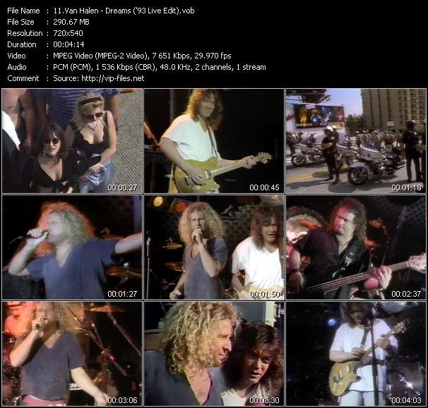 Van Halen - Dreams ('93 Live Edit)