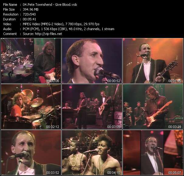 Pete Townshend - Give Blood