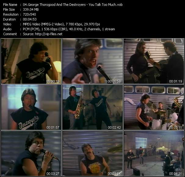 George Thorogood And The Destroyers - You Talk Too Much