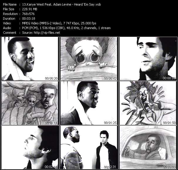 Kanye West Feat. Adam Levine - Heard 'Em Say
