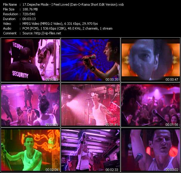 Depeche Mode - I Feel Loved (Dan-O-Rama Short Edit Version)