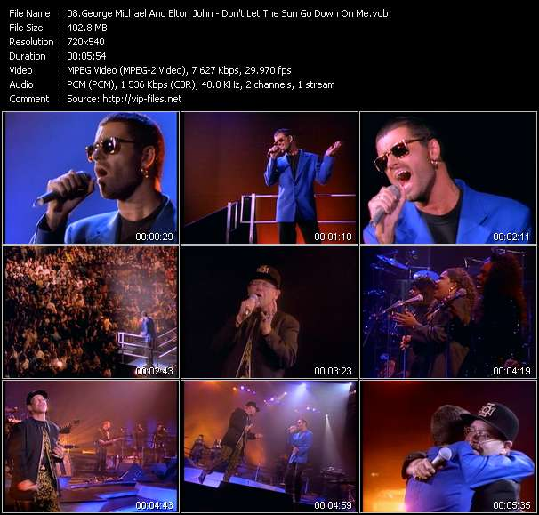 George Michael And Elton John - Don't Let The Sun Go Down On Me