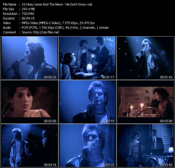 Huey Lewis And The News - He Don't Know
