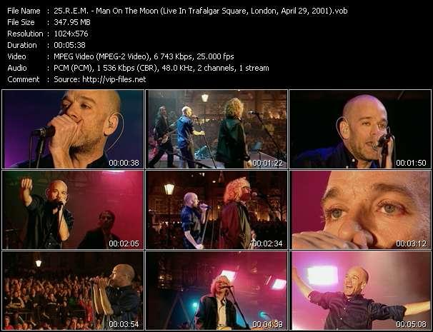 R.E.M. - Man On The Moon (Live In Trafalgar Square, London, April 29, 2001)