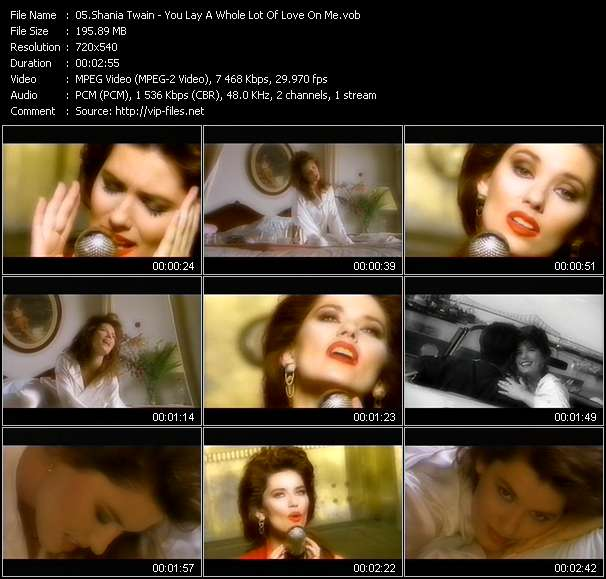 Shania Twain - You Lay A Whole Lot Of Love On Me