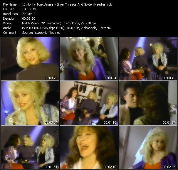 Honky Tonk Angels (Loretta Lynn, Dolly Parton And Tammy Wynette) - Silver Threads And Golden Needles