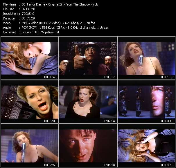 """Taylor Dayne - Original Sin (From """"The Shadow"""")"""