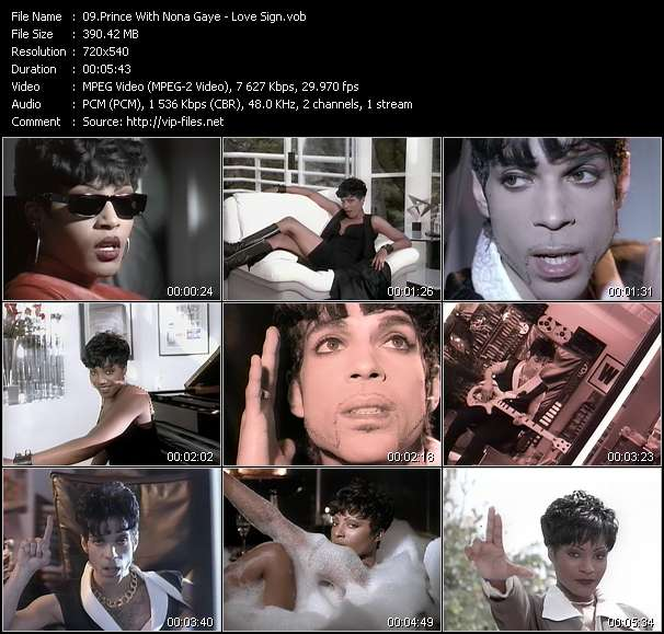 Prince With Nona Gaye - Love Sign