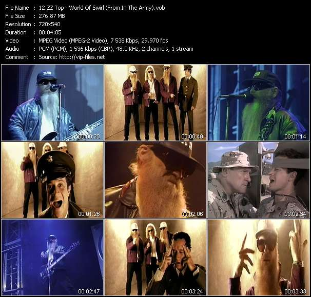 """ZZ Top - World Of Swirl (From """"In The Army"""")"""