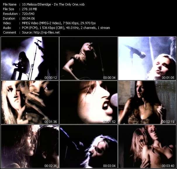 Melissa Etheridge - I'm The Only One