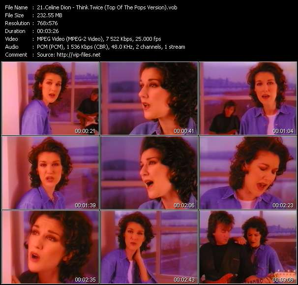 Celine Dion - Think Twice (Top Of The Pops Version)