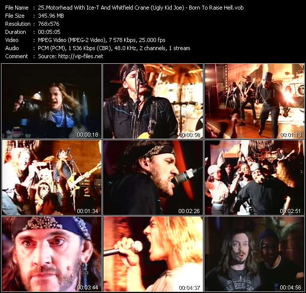 Motorhead With Ice-T And Whitfield Crane (Ugly Kid Joe) - Born To Raise Hell