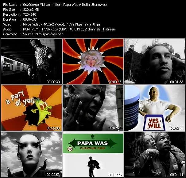 George Michael - Killer - Papa Was A Rollin' Stone