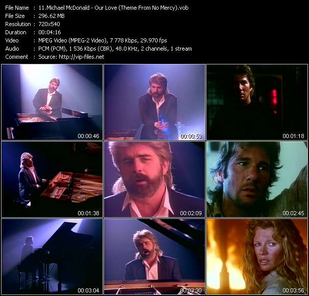 """Michael McDonald - Our Love (Theme From """"No Mercy"""")"""
