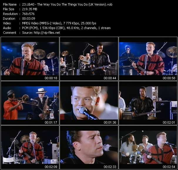 Ub40 - The Way You Do The Things You Do (UK Version)