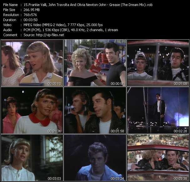 Frankie Valli, John Travolta And Olivia Newton-John - Grease (The Dream Mix)