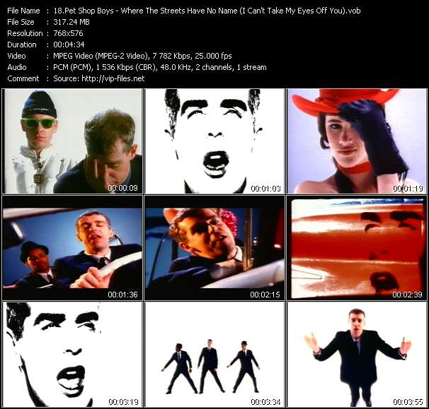 Pet Shop Boys - Where The Streets Have No Name (I Can't Take My Eyes Off You)