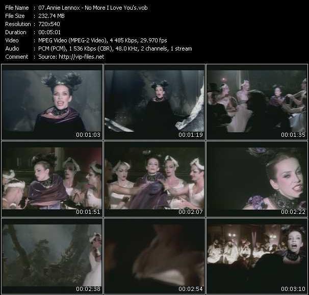 Annie Lennox - No More I Love You's
