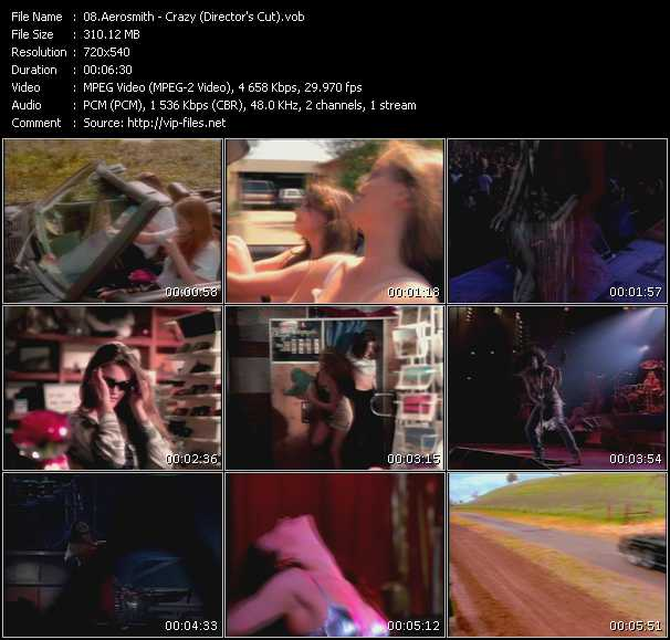 screenschot of Aerosmith video